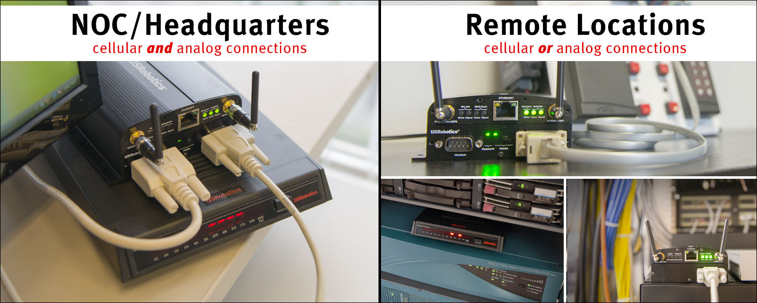 Modemulator cellular and analog connections