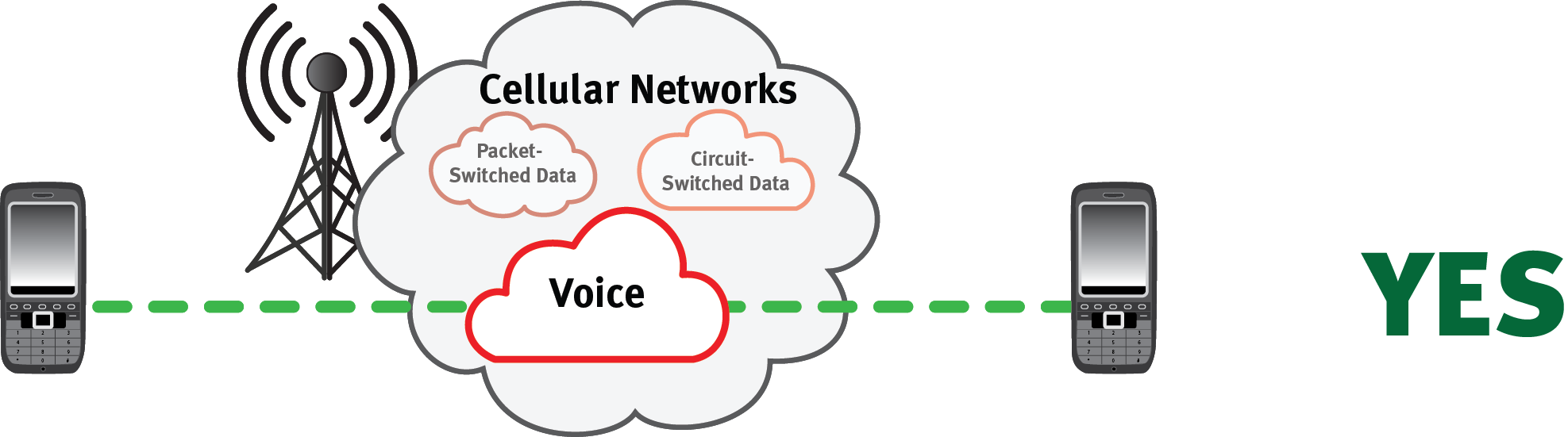 Cellular Voice Network - Mobile to Mobile only
