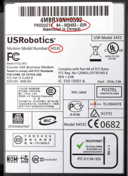 Usrobotics Modems For Business Usr3453c Courier External