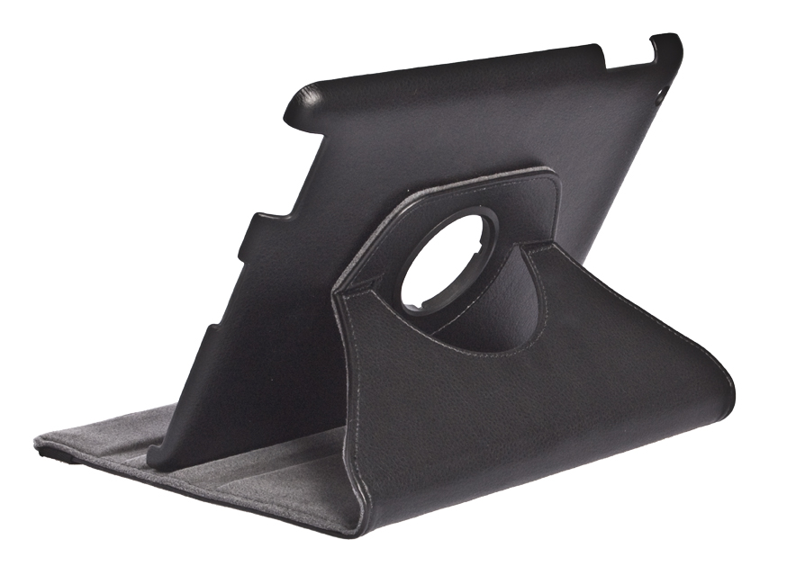 360° Rotating Folio Case & Stand for iPad 2/3/4 Back Angle