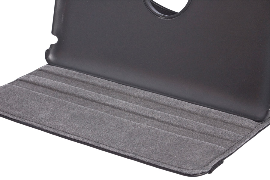 360° Rotating Folio Case & Stand for iPad 2/3/4 slot detail