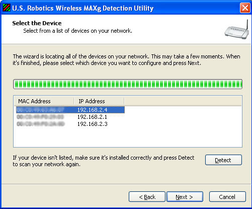 detect mac address: