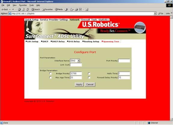 USRobotics SureConnect ADSL Ethernet/USB Router User Guide