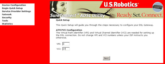 how to find vpi and vci