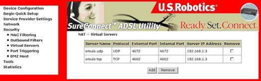 U S  Robotics SureConnect ADSL 4-Port Router User Guide