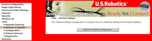 USRobotics SureConnect ADSL Wireless Gateway User Guide